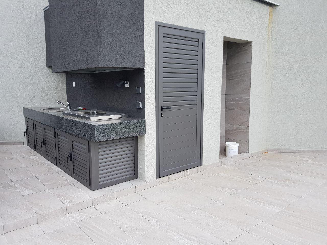 Barbeque & Storage door